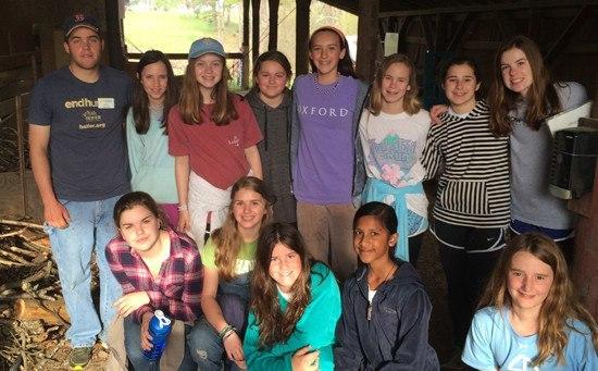 Middle School students visit Heifer Village